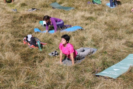 Yoga In quota saluto al sole