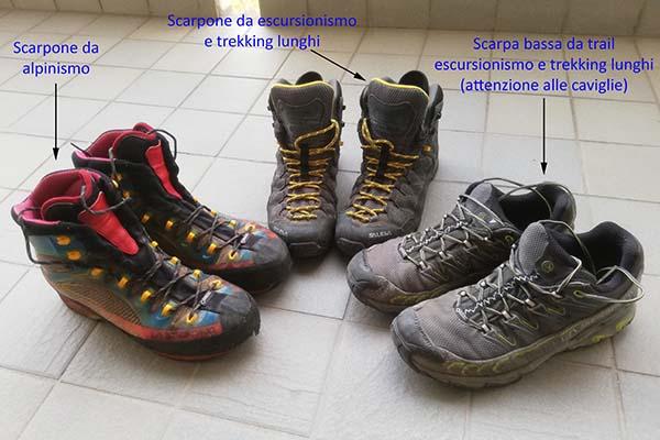 come allargare gli scarponi da trekking